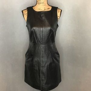 Juicy Couture 100% Leather Dress w/ Pockets Size 6
